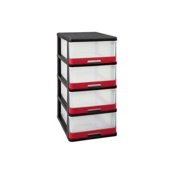 Keter Hercule Ladesysteem 4x25l Zwart-rood 50x