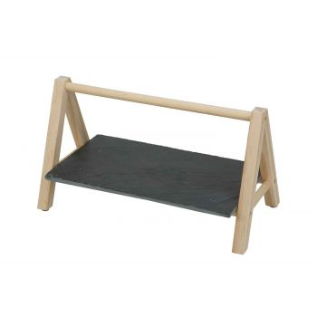 Cosy & Trendy Etagere 1laag Leisteen-houten Stand