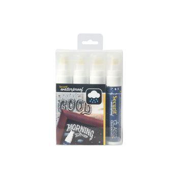 Securit Krijtstift Set4 Waterproof Wit 7-15mm