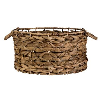 Cosy @ Home Mand Natuur 34x34xh18cm Rond Seagrass