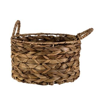 Cosy @ Home Mand Natuur 28x28xh16cm Rond Seagrass