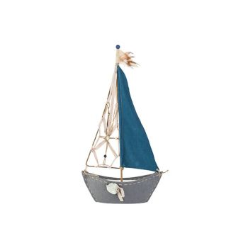 Cosy @ Home Zeilboot Blauw 37xh72cm Textiel