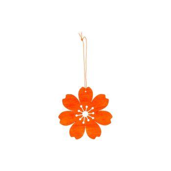 Cosy @ Home Bloem Hanger Oranje D12cm Hout