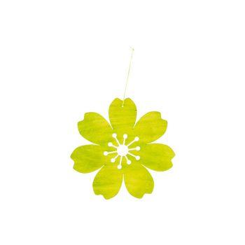 Cosy @ Home Bloem Hanger Groen D25cm Hout