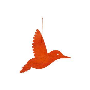 Cosy @ Home Kolibrie Hanger Oranje 29xh22cm Hout