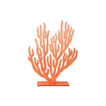 Cosy @ Home Koraalplant Oranje 31xh40cm Hout