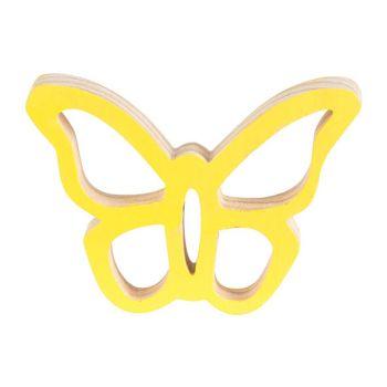 Cosy @ Home Vlinder Hanger Geel 10x7xh2cm Hout