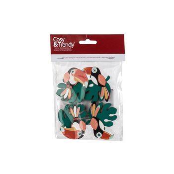 Cosy @ Home Knijper Set4 Toucan Multi-kleur 4,5x1xh6