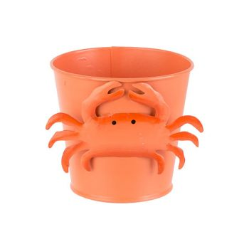 Cosy @ Home Emmer Crab Oranje D7xh12cm Metaal