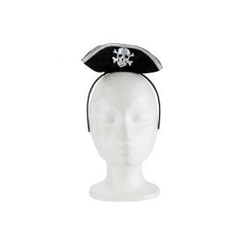 Cosy @ Home Diadeem Met Piratenhoed Zwart