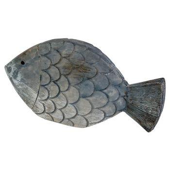 Cosy @ Home Vis Fish Skin Blauw 13,5x2,5xh7cm