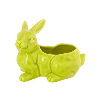 Cosy @ Home Konijn Pot Pastelgroen 14,1x10,2xh11cm K