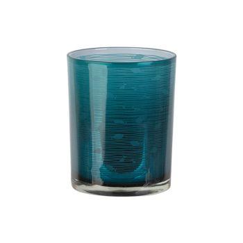 Cosy @ Home Theelichthouder Fish Blauw D10xh12cm Gla