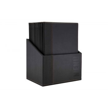 Securit Trendy Menuhouder Zwart 34x24,6xh,4cm A4