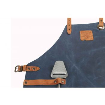 Boska Mr Smith Keukenschort Leder Blauw Pocket