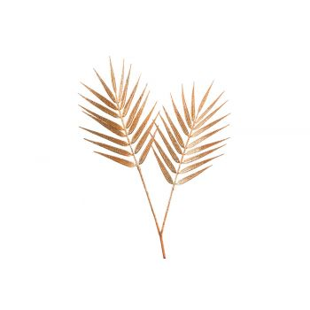 Cosy @ Home Tak Palm Glitter Roest 25x,6xh40cm Kunst