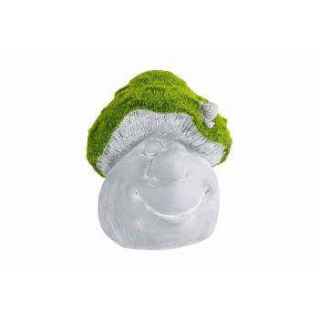 Cosy @ Home Paddenstoel Face Flocked Green Grijs 17x