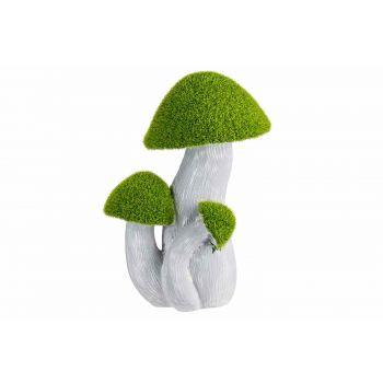Cosy @ Home Paddenstoelen Flocked Green Grijs 17,5x1