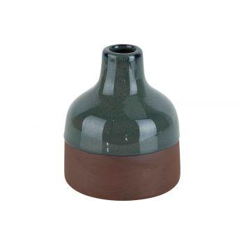 Cosy @ Home Vaas Soliflor Rusty - Glazed Border Grij