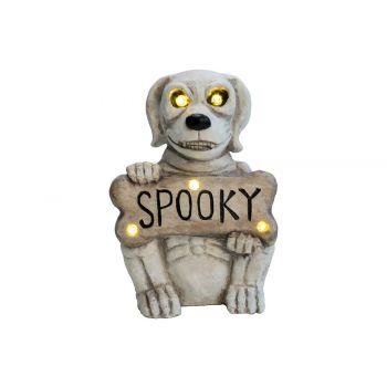 Cosy @ Home Hond Spooky Led Excl. 3xaa Batt. Wit 31x