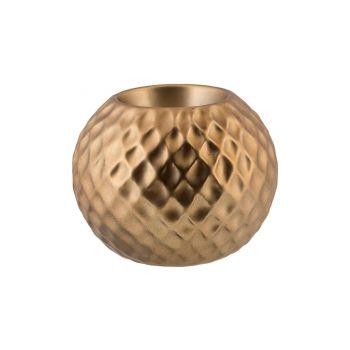 Cosy @ Home Theelichthouder Diamond Pattern Brass 8,