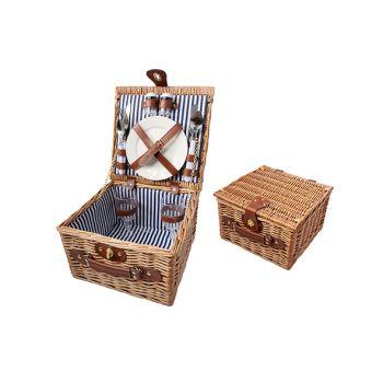 Cosy & Trendy Picknickmand 2p Bruin 28x28x18cm Bestek