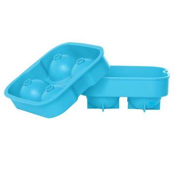 Cosy & Trendy Ijsblokhouder Ballen Blauw 4st D4.5cm