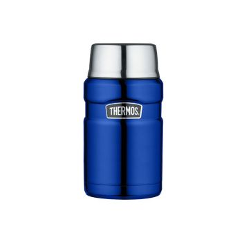 Thermos King Voedseldrager Metalic Blauw 710ml