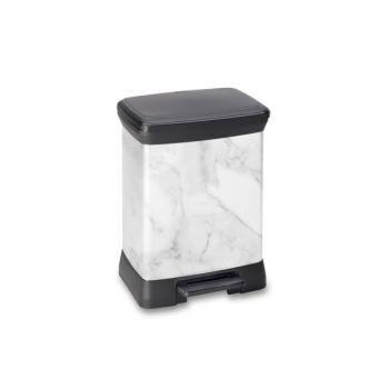 Curver Pedaalemmer Decobin Marble 30l