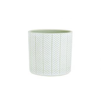 Cosy @ Home Bloempot Herring Groen 13,5x13,5xh13cm C