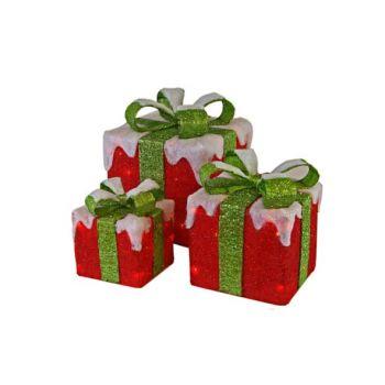 Cosy @ Home Ratan 3 Cadeau Rood Groene Stirik 75led