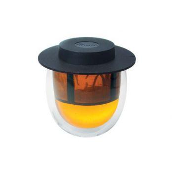 Finum Finum Glas Dw+filter +deksel Zwart 200ml