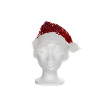 Goodmark Kerstmuts Met Pailletten Rood