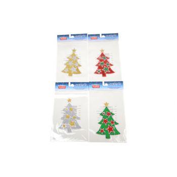 Goodmark Vensterdeco Fireglass Kerstboom 4 Types