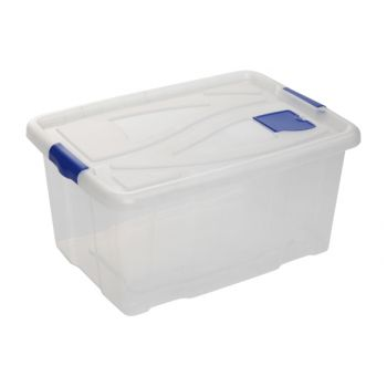Hega Hogar Textielbox Box Transparant 55l 61x45x30c