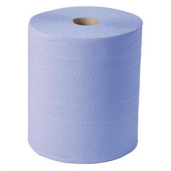 Jantex blauwe maxi handdoekrol 2-laags 2 rollen