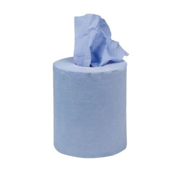 Jantex mini centrefeed handdoekrollen blauw