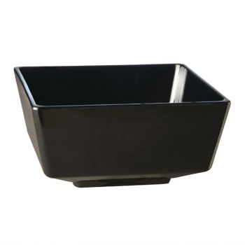 APS Float vierkante melamine kom zwart 25x25cm