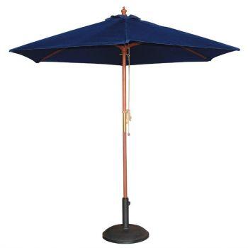 Bolero ronde donkerblauwe parasol 3 meter