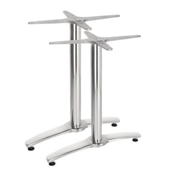 Bolero dubbele aluminium tafelpoot