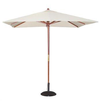 Bolero vierkante crème parasol 2.5 meter