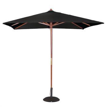 Bolero vierkante zwarte parasol 2.5 meter