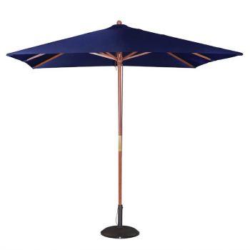 Bolero vierkante donkerblauwe parasol 2.5 meter