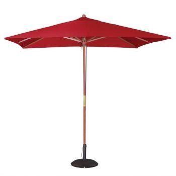 Bolero vierkante rode parasol 2.5 meter