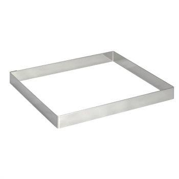 De Buyer vierkante vorm RVS 20x2cm