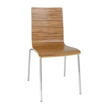 Bolero stoel met vierkante rug eiken - 4 stuks