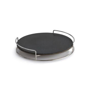 Lotus Grill 552013 Pizzasteen met houder voor Lotus Grill Classic