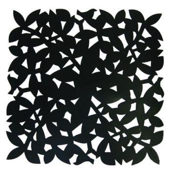 Make My Day zwarte placemat 31,5x31,5cmx1,5mm MMD-STP01-BK
