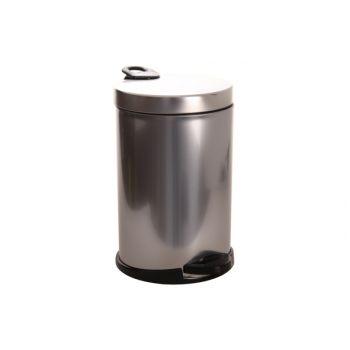 Pedaalemmer 140157SB zilver-zwart 14l