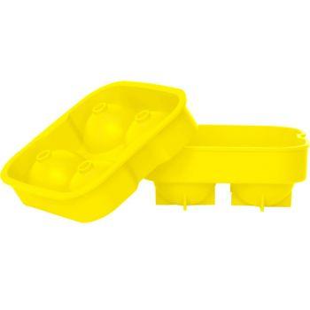 Ijsblokhouder ballen geel d4.5cm